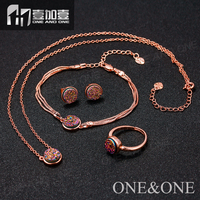 Natural drusy sets fashion jewelry set druzy necklace /earrings/rings/bracelet