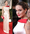 Angelina Jolie Dress Sexy High Silt Red Strap Long Champagne Evening Dress Formal Stars Celebrity Gowns