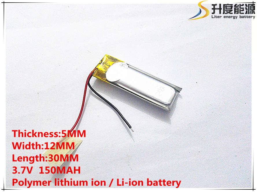 1 PCS free shipping 051230 501230 150MAH BT150 Bluetooth Headset 3.7V lithium polymer battery 3.7V 3 7v lithium polymer battery 601723 battery bluetooth headset battery length 23mm wide 17mm thick