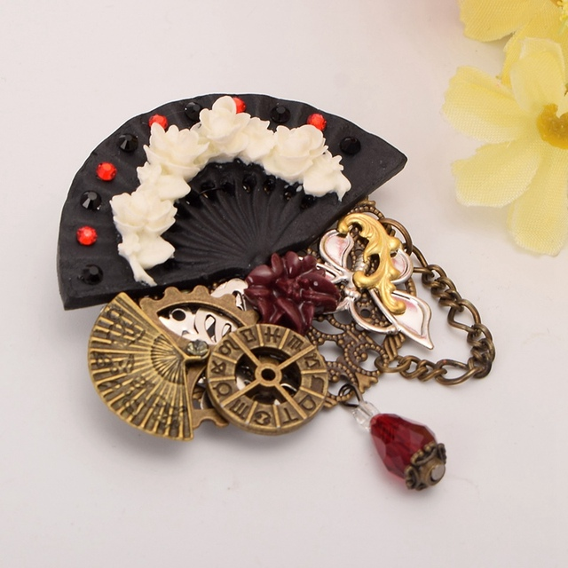 1pc Steampunk Lolita Brooch Gothic