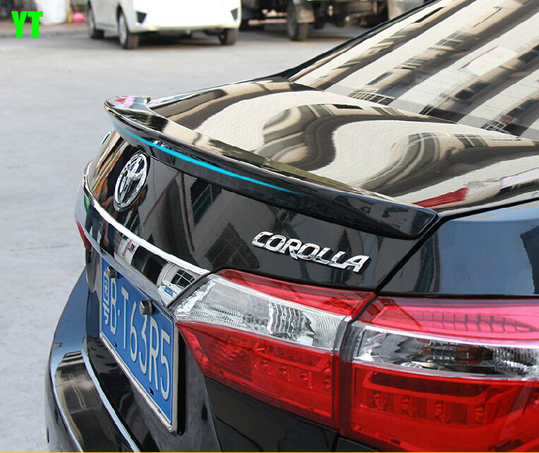 auto car roof wing rear spoiler for toyota corolla 2014