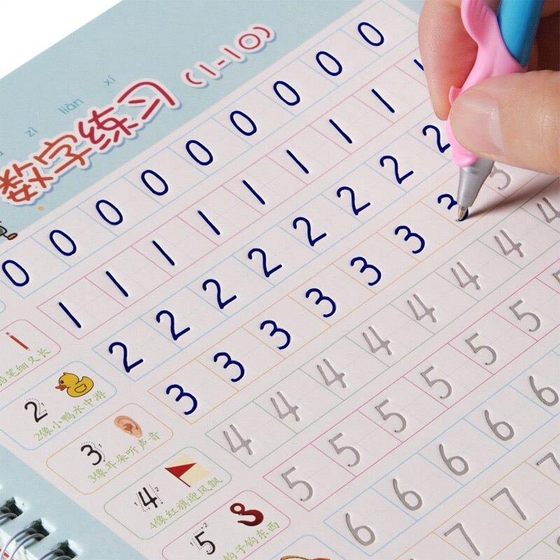 2 buch Arabischen ziffern Copybook Nut design Kinder Regelmäßige skript übungen Schreibwaren für grundschüler Anfänger