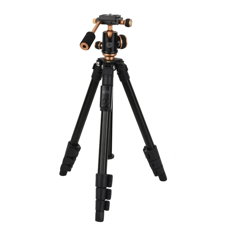 QingZhuang Q160S Bluetooth Tripod Aluminum With 3-Way 40-126cm Universal Camera Tripod For Camera For Cell Phone With Free Clip