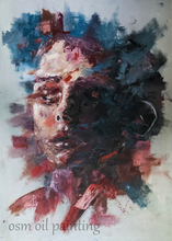 Customization Number Painting Home Decoration Portrait Knife Oil Painting Face Canvas Painting