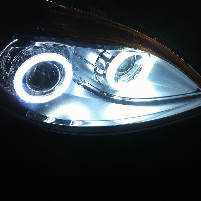 Par 12 V Halo Anéis Olhos de Anjo COB LED iluminação de realce - Faróis do carro - Foto 4