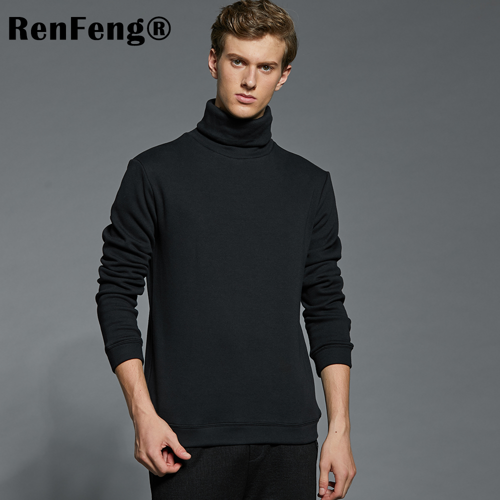 Men's Fashion Winter Men Slim thermo Long Sleeve T shirt Thicken Flannel Thermal Underwear Basic Tops Turtleneck Undershirt Male (7)