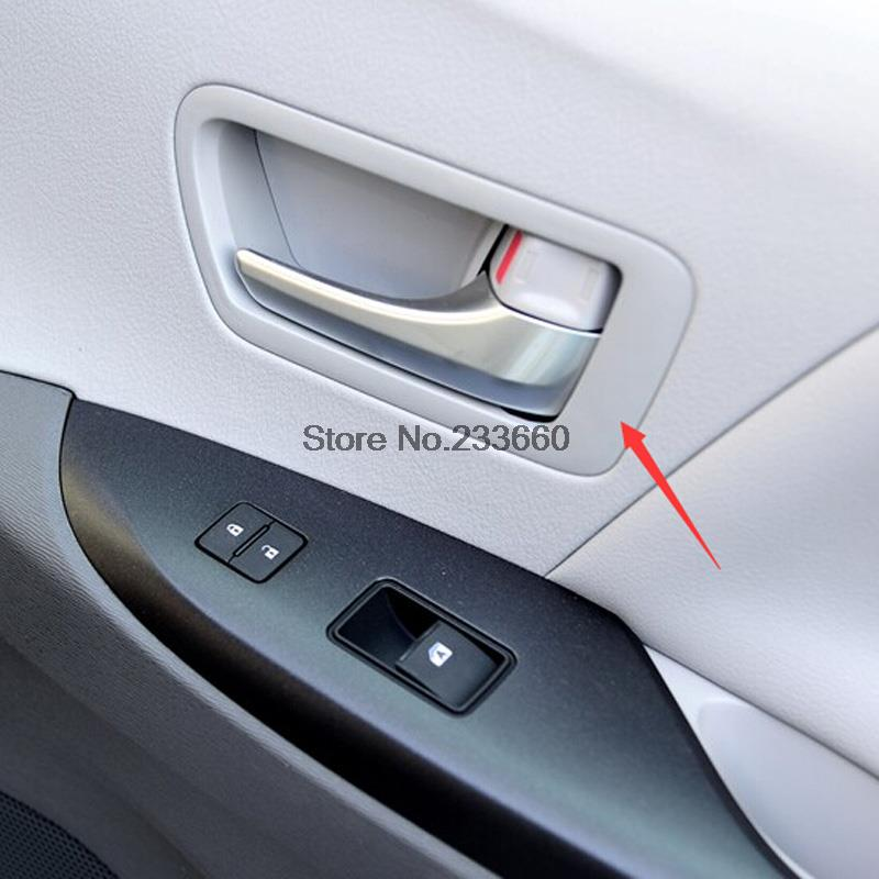 For Toyota Sienna 2010-2016 Car Cover Styling Matte Front Doors Interior Inner Door Handle Cup Bowl Sticker Auto Parts Trim 2pcs roomble соусник sienna