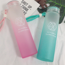New kpop EXO LAY CHEN BAEKHYUN The Same gradient frosted glass freshness cup(China)