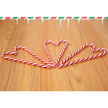 6Pcs/Lot Candy Crutch Pendant Christmas Tree Decor Hanging Ornament For New Year Xmas Party Kids Gift P25