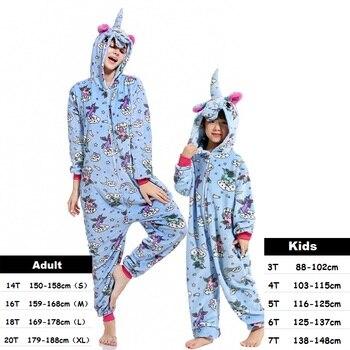 Dzieci Pijamas zima z kapturem zwierząt jednorożec Pikachu ściegu Panda piżamy dziecięce dla dziewczynek chłopcy bielizna nocna Onesie Kigurumi piżamy