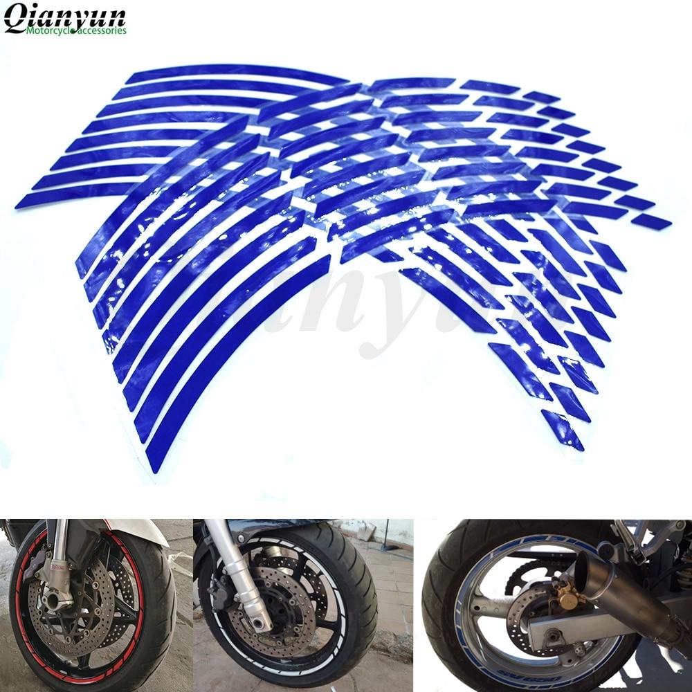 Universal 17-19 Inch Motorcycle Car Tire Sticker Reflective Rim Tape Decal For Yamaha FZ1 FAZER FZ6 FZ6R FZ8 XJ6 MT-07 MT-09 FZ9