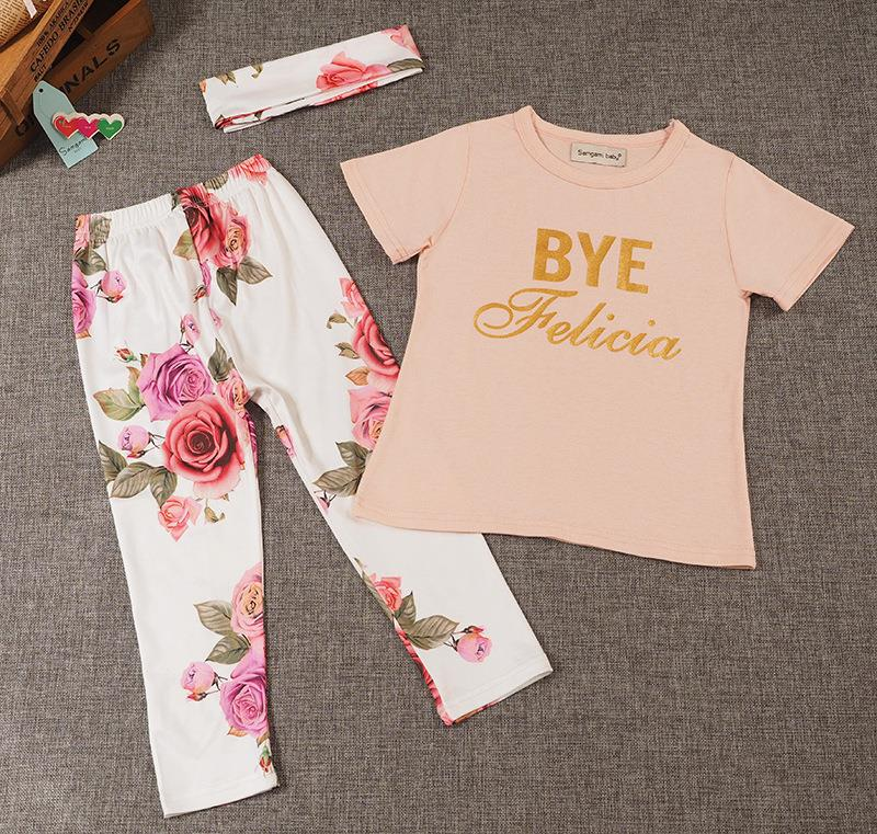 Short Pants ESHOO Baby Girl Clothes Summer Outfits Short Sets 2 Pieces with T-Shirt