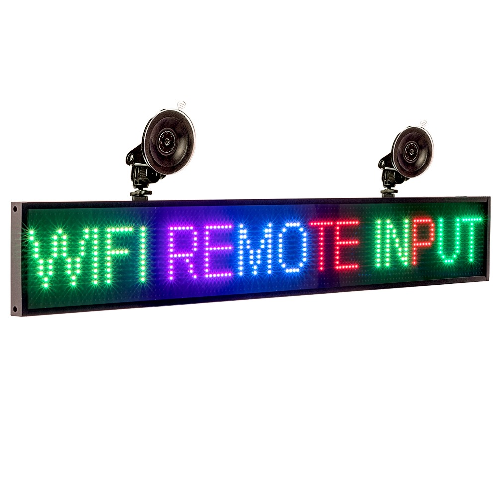P5mm 66cm 12V SMD2121 RGB Sign Full Color Car LED Display Board Indoor Programmable Scrolling Text Message Advertising Screen