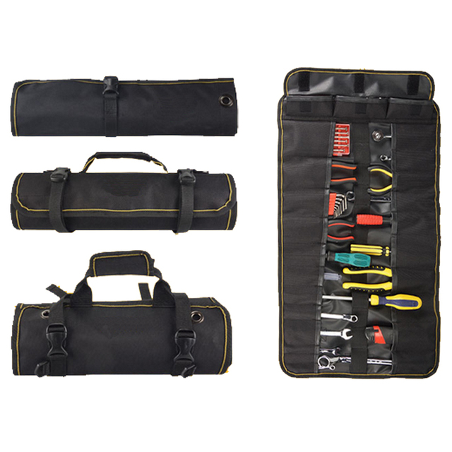 Roll Rolling Repair Tool Bag Driver Wrench Bags Up Holder Portable Ratchets Hand Tools Storage