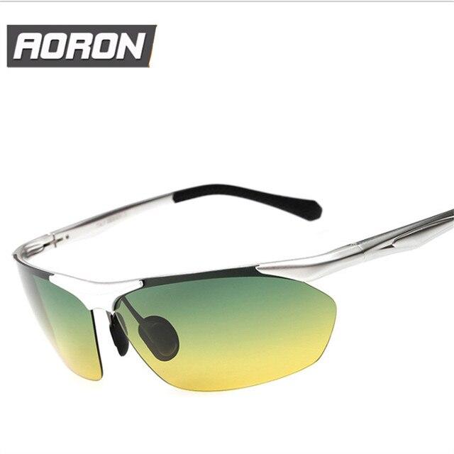 Дневного И Ночного Видения Очки Алюминия Магния Известный Бренд Поляризованный мужские Вождения UV400 Солнцезащитные Очки Для Мужчин Вождения