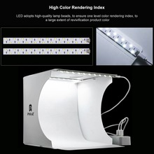 Photography Tabletop Home Equipment Two Led Strips Soft Lights Box Portable Photo Studio Foldable Tent with 5pcs Background