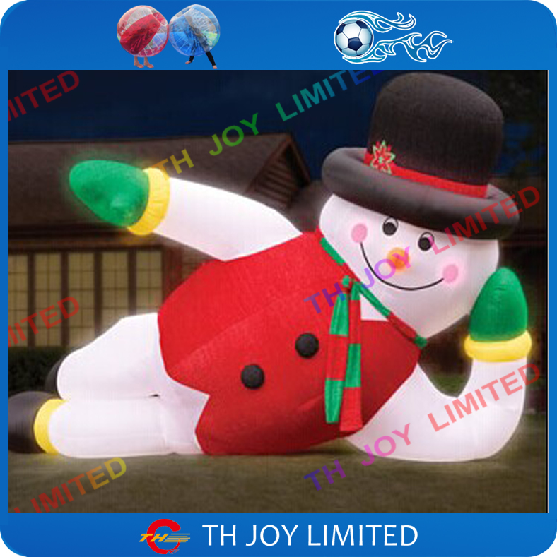 Inflatable Christmas Decorations.Us 580 0 6m 20ft Giant Led Inflatable Snowman Inflatable Christmas Decorations Outdoor Inflatable Advertising Snowman With Led Light In Toy Balls