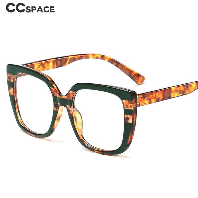 Dark Green Stripes Glasses Frames Men Women Big Frame Retro Leopard Optical Fashion Computer Glasses 45759