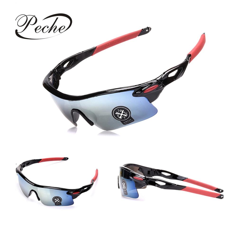Peche Mens Fishing Eyewear Sunglasses Driving Cycling Glasses Anti UV400 PC Explosion-proof Sunglasses Sports Outdoor