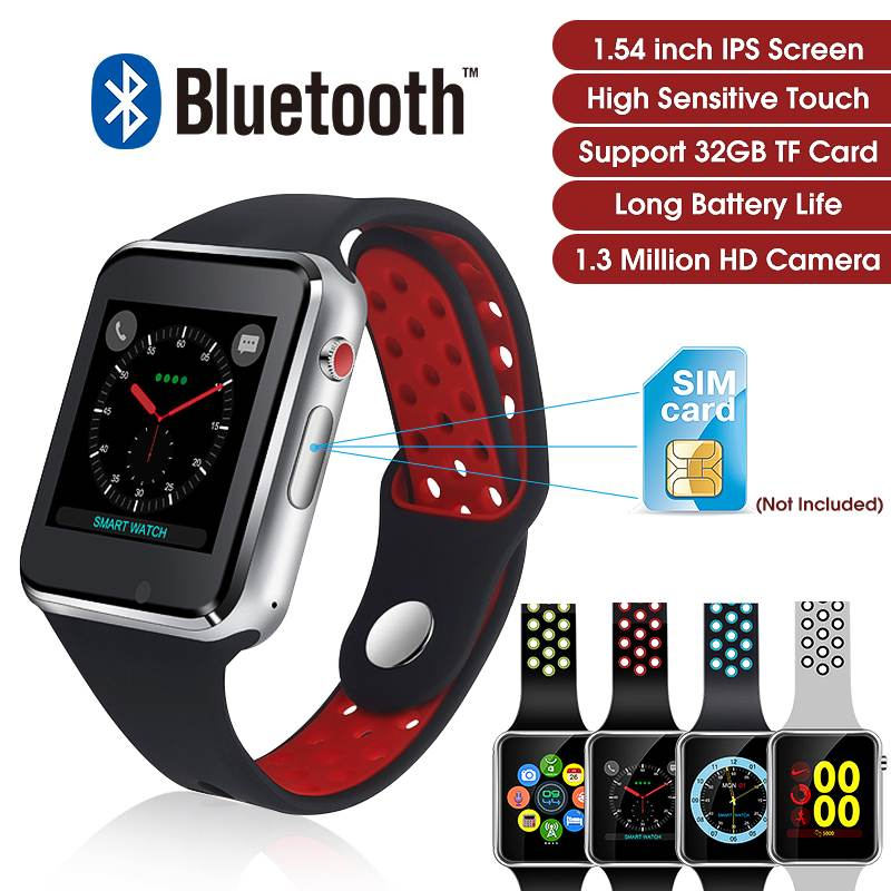 M3 64+64MB Up To 32G TFT Card 1.3 Million HD Camera Watch Phone 1.54 Color Screen Smart Watch Blood Pressure Health Monitors(China)