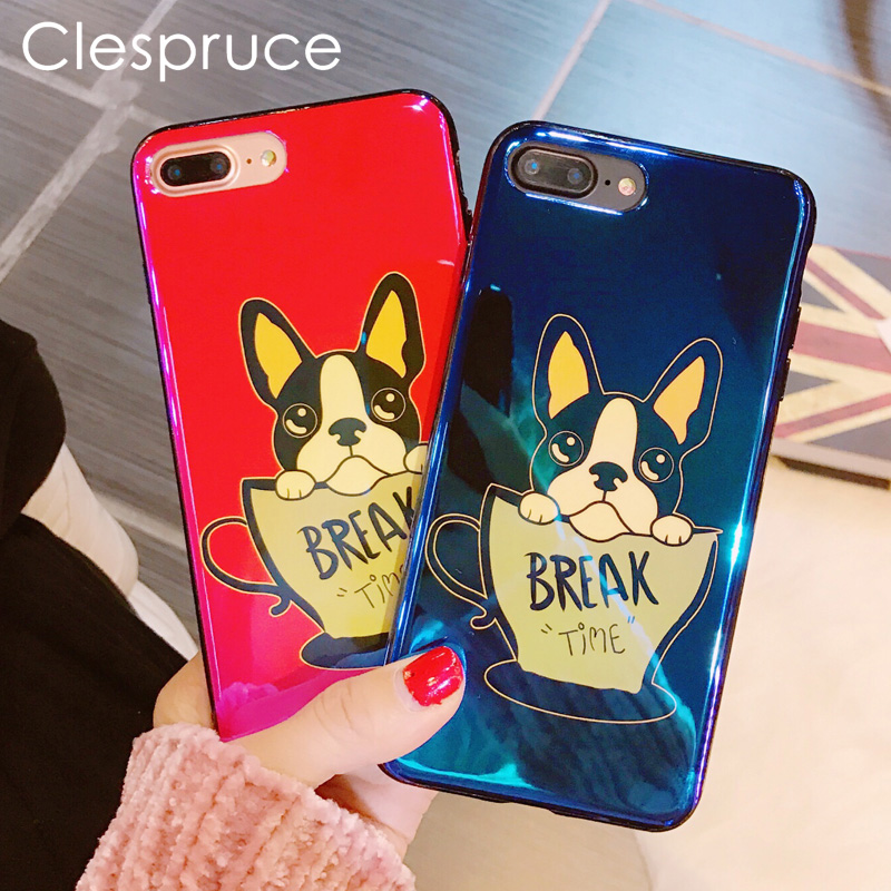 Buy now Clespruce Cute Puppy French Bulldog Soft silicon Phone Case