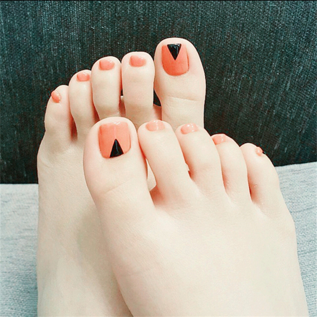 Nieuwe Mode Oranje Teen Nail Sticker Decal Water Transfer Sticker