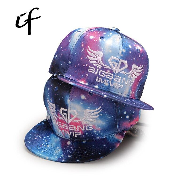 Galaxy Pattern Space Star Baseball Cap  for Men Women Hip hop Snapback Baseball Polo Letter Cap Male Summer Bone Snap Back Wings