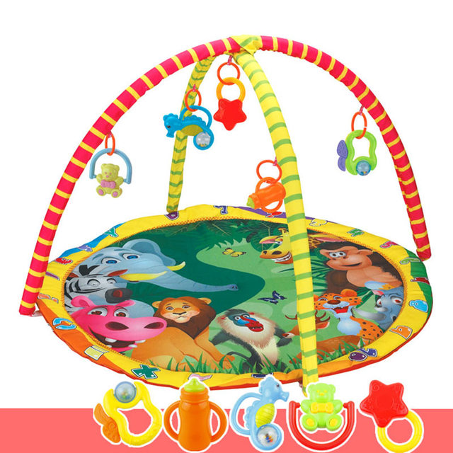 Kids Children Baby Fitness Rack Game Blanket Crawling Carpet Mat Gym Toys Intellectual Development BM88
