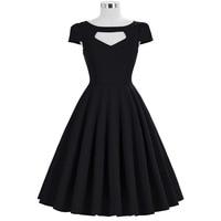 b8772a04415181 Women Summer Dresses Audrey Hepburn Vestidos Retro Casual Party Dress Robe  Pinup 50s Vintage Dresses Cap