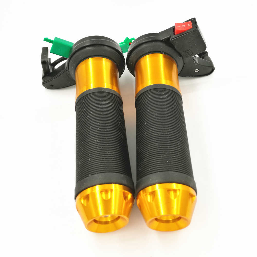 Gold Motorcycle Electric Heated Grips Motorbike Hot Grip ATV Scooter 22mm 7//8 Handlebar Hand Warmer Aluminum 12V