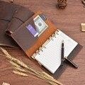 Записная книжка из 100% натуральной кожи со спиральным кольцом  винтажный дневник из воловьей кожи ручной работы