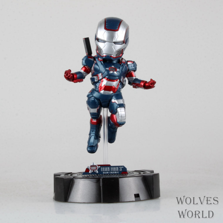 Movie Figure 23 CM Egg Attack Iron Man 3 Iron Patriot PVC Action Figure Collection Model Toy Brinquedos Christmas Gift iron man action figure mini egg attack light 6pcs set action figures pvc brinquedos collection figures toys for christmas gift
