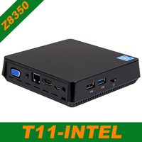 T11 Z8350 Мини ПК Win10 ядерным процессором Intel Atom Z8350 1,92 ГГц 4 Гб Оперативная память Windows 10 HDMI VGA USB3.0 2,5 дюймов HDD DDR3 мини настольный компьютер ПК