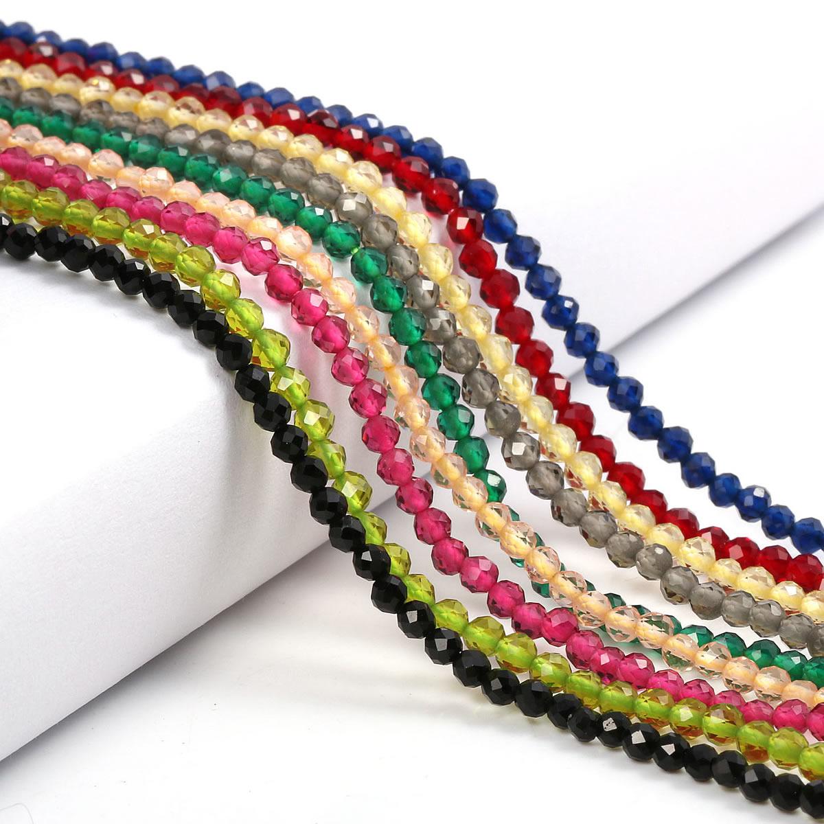 Маленькие бусины из натурального камня изумруды 2 3 мм сечение свободные бусины для изготовления ювелирных изделий ожерелье DIY браслет