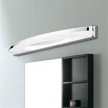 Led spiegel scheinwerfer 8w 42cm edelstahl acryl wand lampe ...