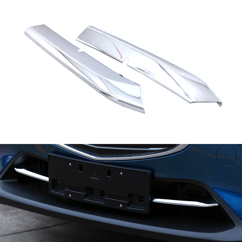For <font><b>Mazda</b></font> CX-3 <font><b>CX3</b></font> 2015 <font><b>2016</b></font> 2017 2018 Exterior Car Styling ABS Chrome Bottom Central Grill Grille Trim 2pcs image