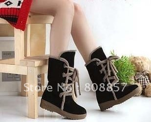 3pieces/lot women's classic wool snow boots drak brown, light brown ,black ,red