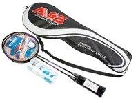 1 Pair 67 24 6cm Sport Beginner Badminton Racket Badminton Racquet Including Badminton Bag Raquete De