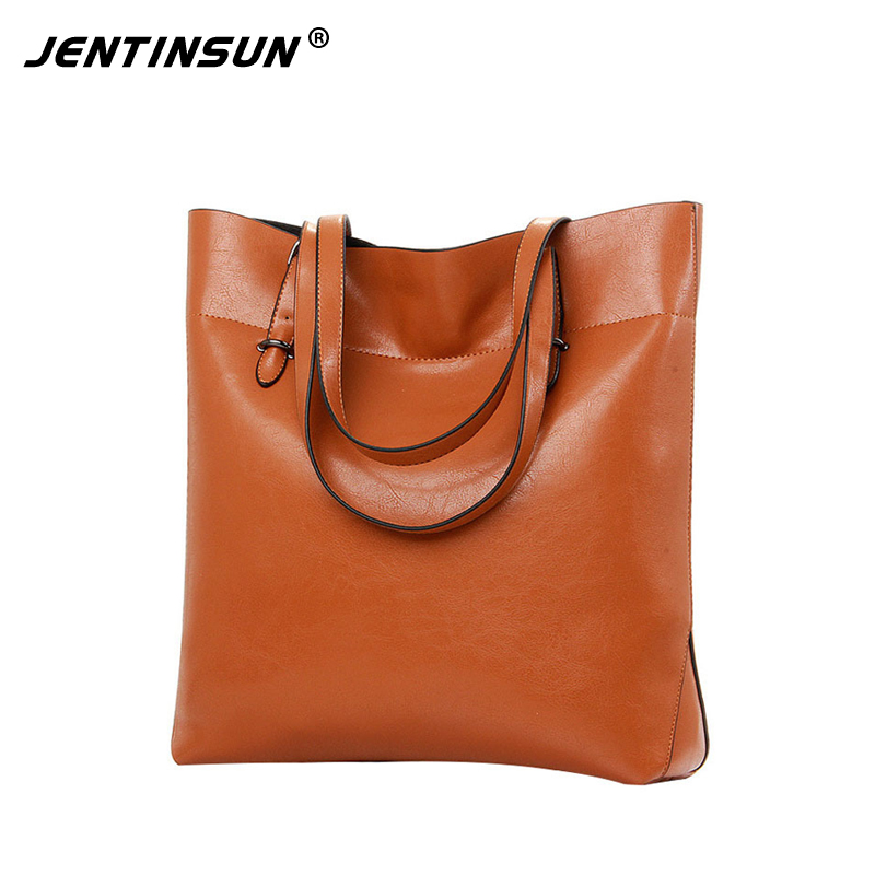 Women Shoulder Bags 2017 Fashion Women Handbags Cowhide Leather Large Capacity Casual Tote Bags Genuine Leather Top-handle Bag 2018 new fashion top handle bags women cowhide genuine leather handbags casual bucket bags women bags rivet shoulder bags 836