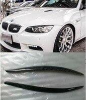 E92 E93 M3 LM Style universal Carbon Fiber car Headlight Eyebrows cover trim sticker for BMW 2006 2013