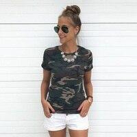 Women S Camouflage T Shirt Punk Women 2017 Summer Tops Crop Tee Shirt Femme Casual Shirt