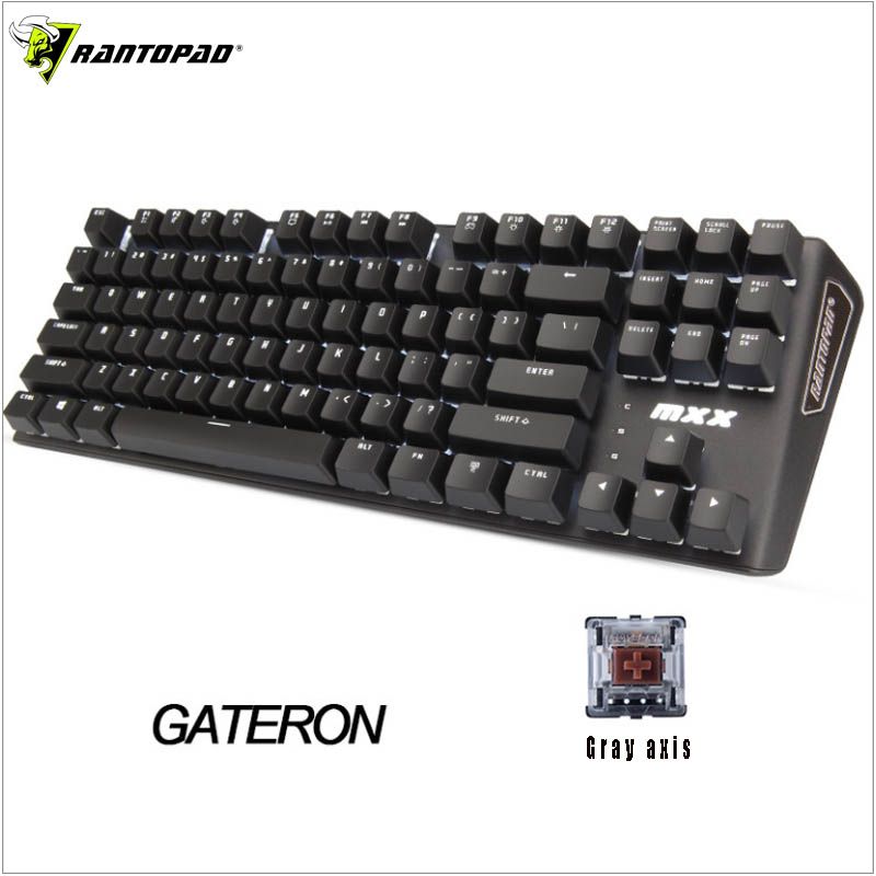 Image 5 - Rantopad MXX Cherry/GATERON Mechanical Gaming Keyboard 87 Key Deluxe Edition 4 Axis Aluminum Cover White Single Color RGB  LED-in Keyboards from Computer & Office