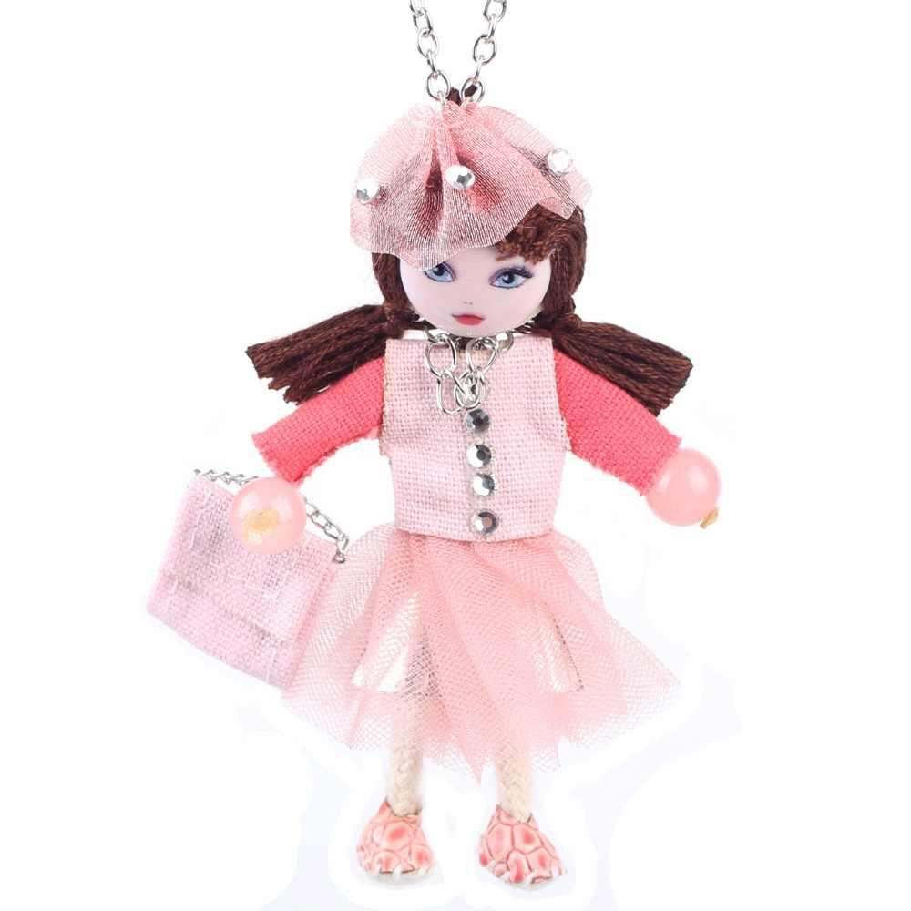 Bonsny Кукольное Ожерелье Длинная цепочка с подвеской для девочек французский воротник 2016 новый милый Чокер Модные женские аксессуары