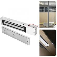 лучшая цена DC 12V 280kg Holding Force Single Door Electric Magnetic Electromagnetic Door Lock with LED Light