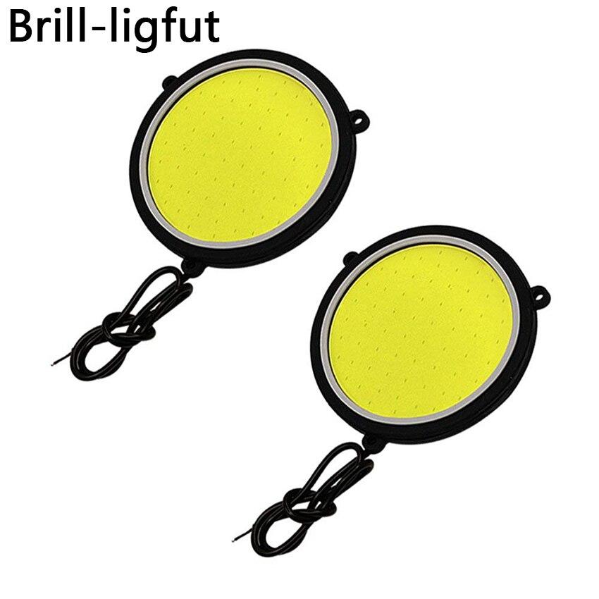 1Pair Ultra Bright COB LED Car DRL Driving Daytime Running Lights Flexible Round Shape Car Working Lights Driving Fog Lamp