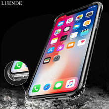 ФОТО luende clear shockproof soft phone case for iphone 6 6s plus silicona luxury back cover for iphone x 10 iphone 7 8 plus iphonex