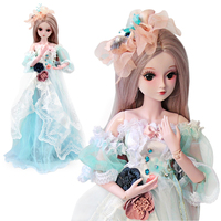 UCanaan 1/3 BJD 60CM Girls SD Doll With Full Outfits Dress Wig Shoes Makeup Children Fashion Toys For Girls Collection