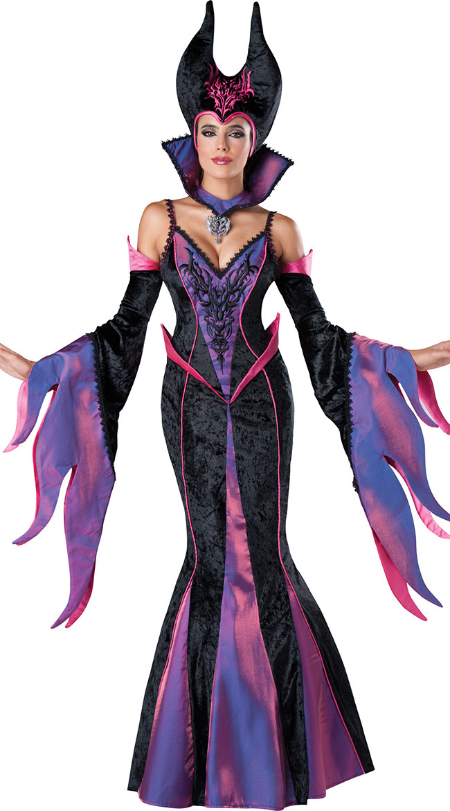 free pp mystical spellbound witches maleficent halloween fancy dress ladies witch mermaid costume halloween costume for - Mystical Halloween Costumes