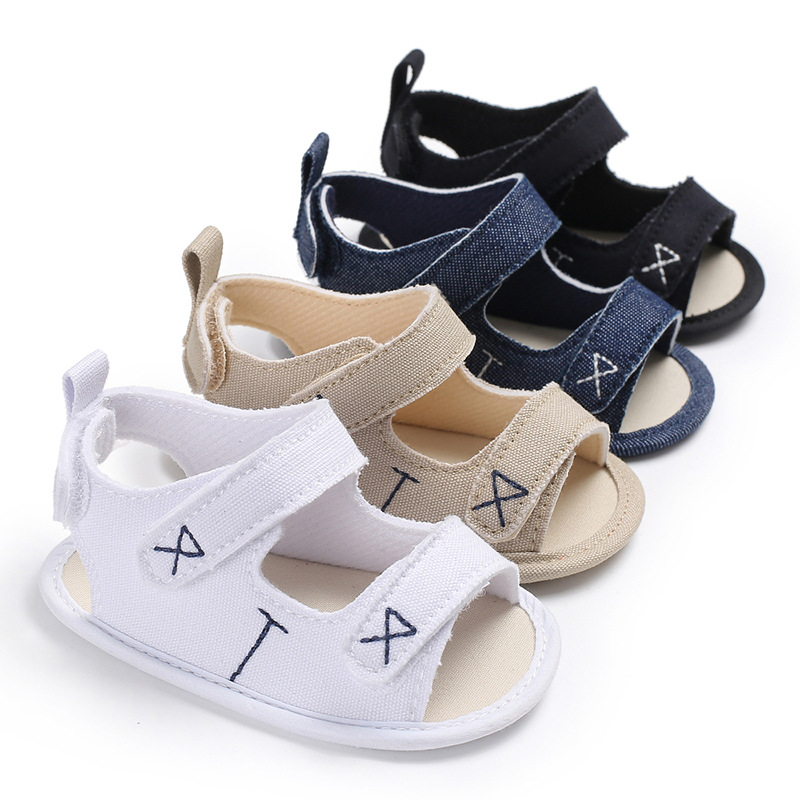 2018 Toddler Baby Boy Girls First Walker Shoes Crib Pram Shoes Prewalker New Summer Canvas Sandals Shoes 0-18M