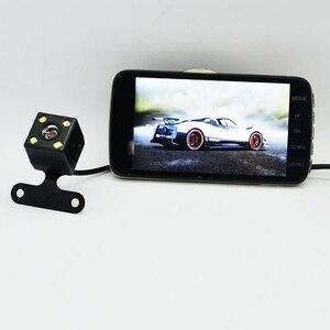 Image 2 - 4.0 Inch Dual Lens Car DVR Camera 170 Degree Auto Driving Recorder G sensor 1080P Dash Cam with Rear View Camera